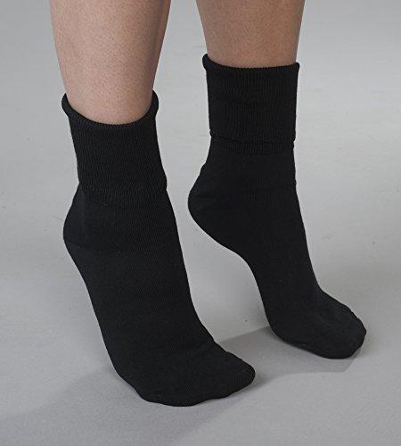 - Black Buster Brown Cotton Socks - Fits Shoe Sizes 7.5-9