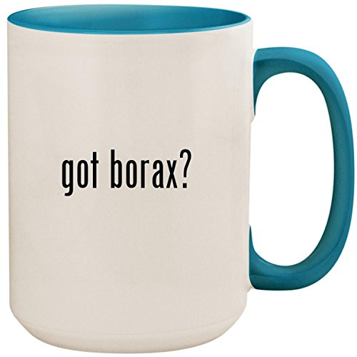 got borax? - 15oz Ceramic Colored Inside and Handle Coffee Mug Cup, Light Blue