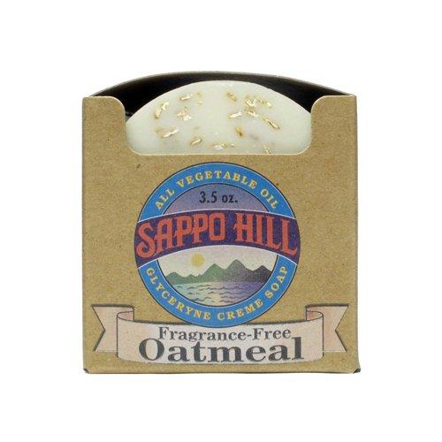 Sappo Hill Bar Soap - Oatmeal Natural 3.5 oz - 1 Pack (12 - Natural Fragrance Oatmeal