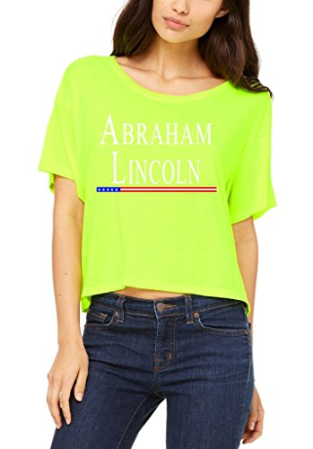 shop4ever-abraham-lincoln-flowy-boxy-t-shirt-president-shirts-medium-neon-yellow-0