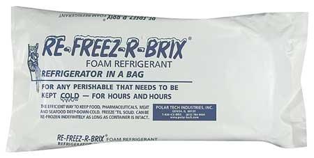 Polar Tech RB30 Re-Freez-R-Brix Foam Refrigerant Pack, 9'' Length x 4'' Width x 1-1/2'' Thick (Case of 3) by Polar Tech