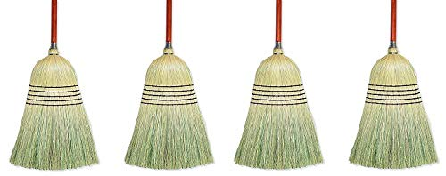 Wilen E502036, Warehouse Corn Blend Broom with 1-1/8'' Handle, 32# Size, 56'' Length (Case of 6) (4-(Pack))