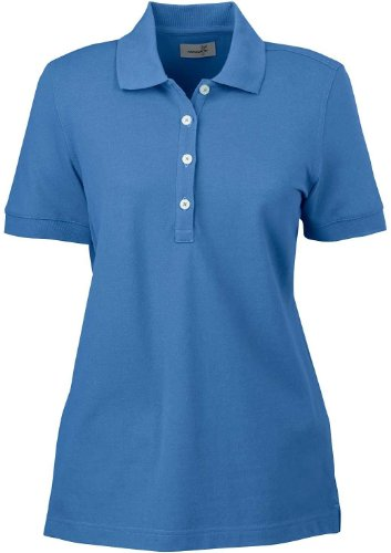 Ashworth 1146C Ladies Combed Cotton Piquà Polo-Short Sleeve Shirts-XX-Large-Absolute Blue