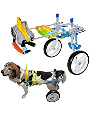 HeoBam Pet Wheelchair for Handicapped Hind Legs Small Dog Cat,Doggie,Two Wheels Adjustable Dog Wheelchair, cart, 7 Sizes for hind Legs Rehabilitation (S)