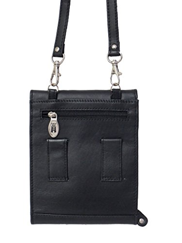 Bag Travel Purse Neck Purse Black Leather Belt Rowallan XpIwq8n