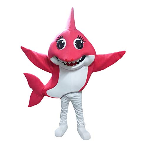 Shark Mascot Costumes - Hot Pink Mommy Shark Baby Shark