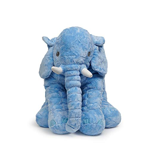 LApapaye 24inch Stuffed Elephant Plush Animal Toy Stuffed Animal (Blue)