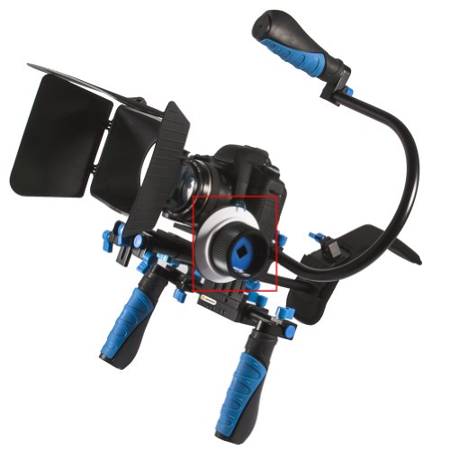 Neewer® 360 Degree Adjustment Follow Focus C1 for 15mm Rod rig, Supports Digital SLR and Video Cameras