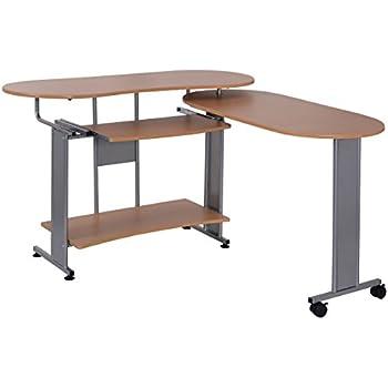 Amazon Com Tangkula L Shape Computer Desk Expanded