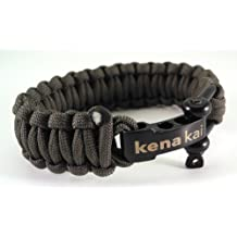 Paracord Survival Bracelet with Stainless Steel Shackle, Regular Weave