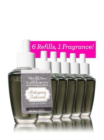 Bath & Body Works MAHOGANY TEAKWOOD 6-Pack Wallflowers Refill