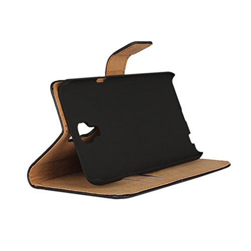 Trumpshop Smartphone Carcasa Funda Protección para LG X Screen + Rosado + Ultra Delgada Cuero Genuino Caja Protector con Función de Soporte Ranuras para Tarjetas Crédito Choque Absorción Marrón