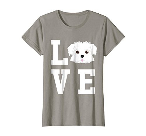 Womens I Love My Dog - Maltese Dog Lover T-Shirt XL (Maltese Dog)