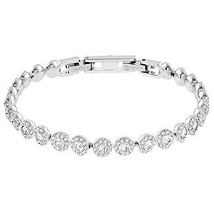 Swarovski Women's White Rhodium plated Angelic Bracelet 5071173