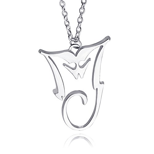 missuso Michael Jackson Michael Jackson Album Pendant Necklace Mj Style (Silver) (White) (Michael Jackson Man In The Mirror Chords)