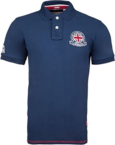 Lonsdale Polo Wall asey Men Slim Fit Polo - Dark Navy Gris S ...