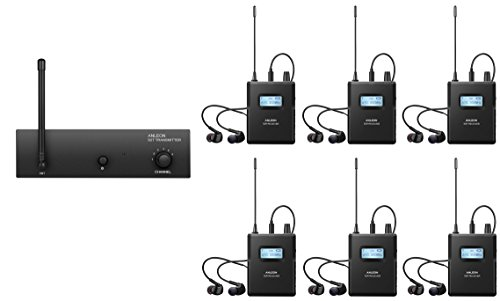 ANLEON S2 Professional Wireless In-ear Monitor System (1 Transmitter & 6 Receiver) by ANLEON