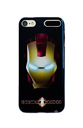 Phone Kandy Black Soft TPU Gel case for iPod Touch Marvel DC Comics Deadpool Superhero (iPhone 6 6s, Iron Man) (I Phone 6 Case Iron Man)