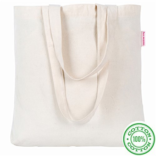 "Washable 15.7""x15.7""x3.3""x13"" Resuable Cotton Canvas Tote Ba"
