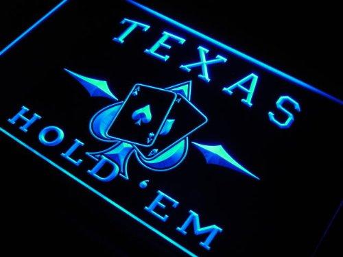 ADV PRO s217-b Texas Hold'em Poker Casino Neon Light Sign - Neon Casino Light