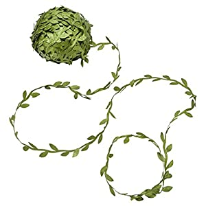 Yolito 256 Ft Artificial Green Vines with leaves, Leaf Garlands Fake Hanging DIY Vine Flower Decorative Home,Wall, Garden, Yard, Wedding Party 55
