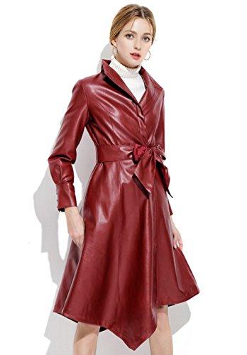 Leather Parka Coat - 2