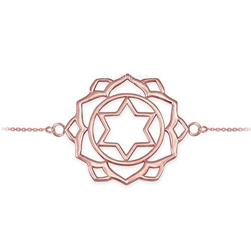 14K Rose Gold Anahata Love Chakra Yoga Bracelet by Hindu Jewelry by LABLINGZ (Image #1)