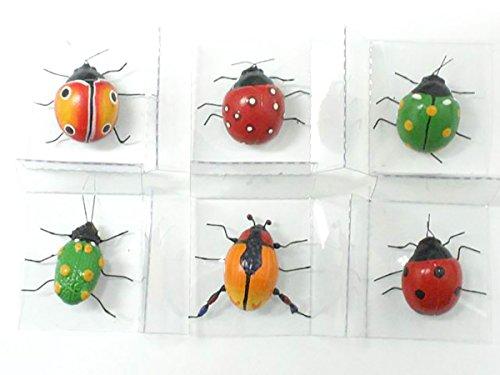 Magnet Clay ladybug Insect, Like real, (6 Ladybug)
