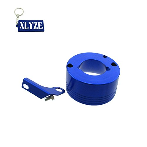 (XLYZE Air Filter Adapter With Choke Bracket For 11HP 13HP Honda GX340 GX390 Clone Engine Go Kart Predator 301cc 420cc (Blue))