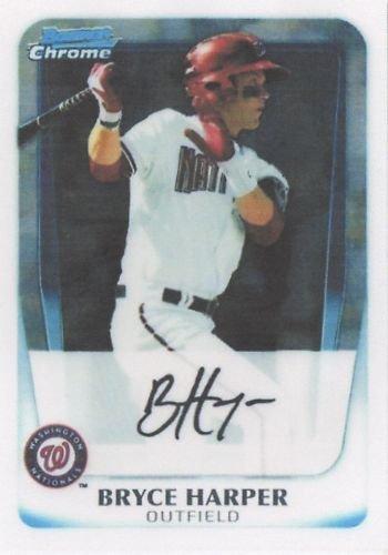 2011 Bowman CHROME Prospects Baseball Card # BCP1 Bryce Harper RC - Washington Nationals (RC - Rookie Card) MLB Trading Card in Screwdown Case by Bowman