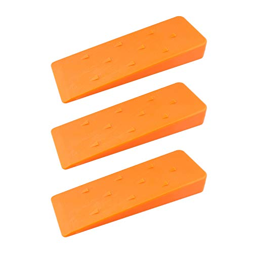 Felled Spiked Tree Felling Wedges for Tree Cutting  8 Inch Orange Plastic Felling Wedge, Logging Tools  3 Pack
