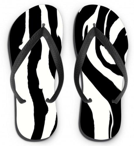 Flip Flops Motiv Zebra Größe L (41-43)