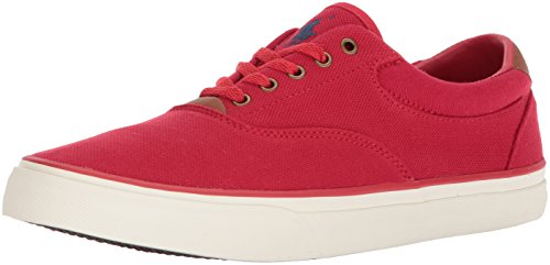 Red Casual Shoes - Polo Ralph Lauren Men's Thorton II Sneaker, Red, 11 D US