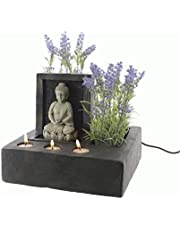 Direct Global Trading Buddha Fountain Indoor Water Feature with Tealight Holders