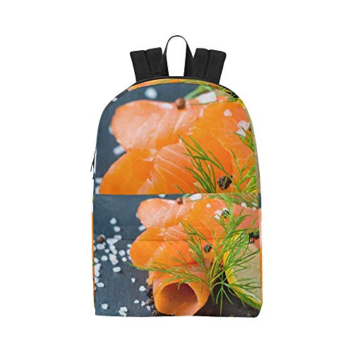 (Fresh And Juicy Salmon Classic Cute Waterproof Daypack Bags School College Campus Backpacks Rucksacks Bookbag For Kids Women And Men Travel With Zipper And Inner Pocket)