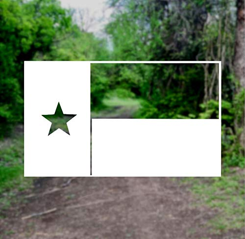 (Texas State Flag [Pick Any Color] Vinyl Transfer Sticker Decal for Laptop/Car/Truck/Window/Bumper (4