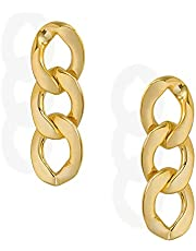 Amazon HIKARO varumärke 14K guldpläterade metallkedjor med S925 silvernål för flickor / pojkar, present till alla hjärtans dag, födelsedag, årsdag, mors dag