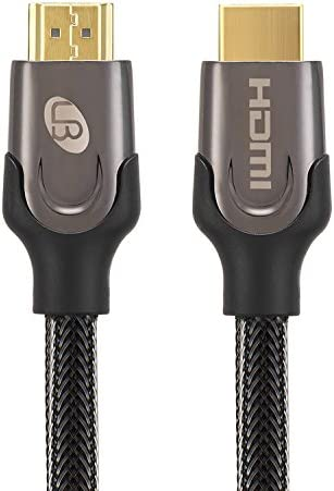 Crystal Braided Cable 15.2 Meters 50 Feet High Speed HDMI 2.0 Support 4K @60Hz 18Gbps 3D 2160p 1440p 1080p Ethernet ARC and HDR HDMI Cable