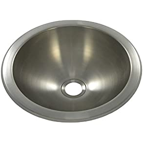 10' x 10' Round Bar Sink, Undermount, Finish: Brushed Stainless Steel