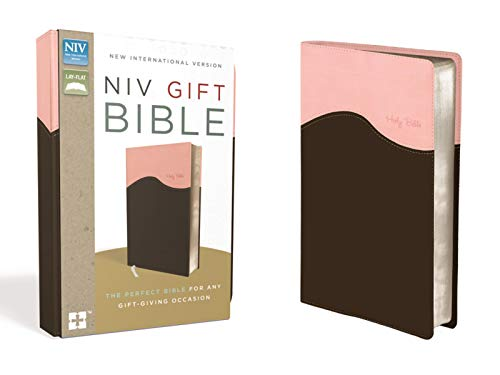 NIV, Gift Bible, Leathersoft, Pink/Brown, Red Letter Edition (Knowing Jesus Through The Old Testament Review)