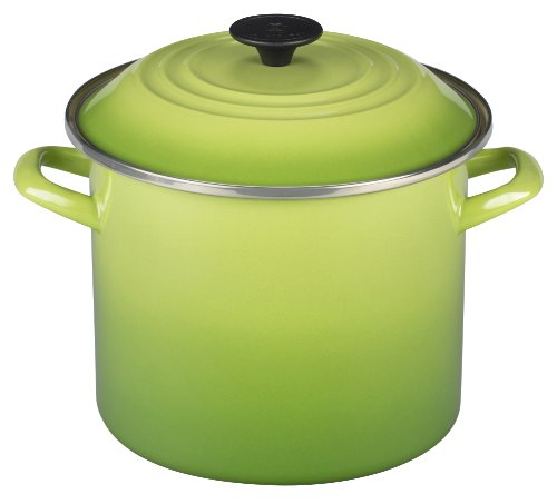 Le Creuset Enamel-on-Steel 8-Quart Covered Stockpot, (Le Meal)