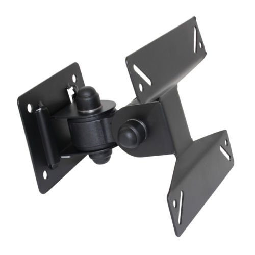 FoxMicro TV Bracket Wall Mount with Tilt  for 14 26 inch LCD LED Plasma Flat Panels – Flat to Wall   Heavy Gauge Reinforced Steel FM
