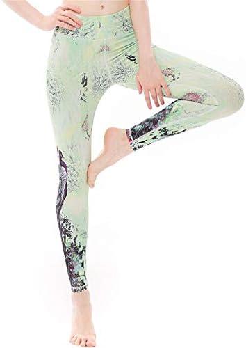 ウェア フィットネスヨガウェア クラシックスポーツパンツレディースヒップフィットネスフィットネスパンツヨガ高弾性タイトハイウエストレギンス 抜群な伸縮性をもち (色 : 緑, Size : L)