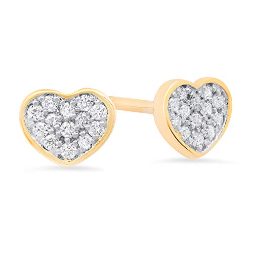Lab Grown Diamond Round Heart Stud Earrings in 10k for sale  Delivered anywhere in Canada