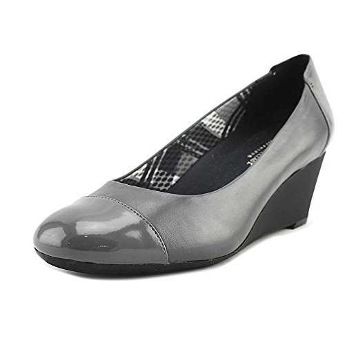 Naturalizer Women's Necile Wedge Pump Graphite Lead Leather/suede great deals online low price cheap price affordable cheap online AXcrtLsV