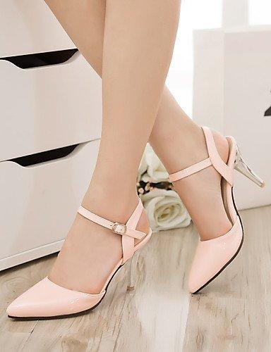 ShangYi Women's Shoes Heel Heels / Pointed Toe Sandals / Heels Outdoor / Dress / CasualBlack / Blue / Pink / Red...