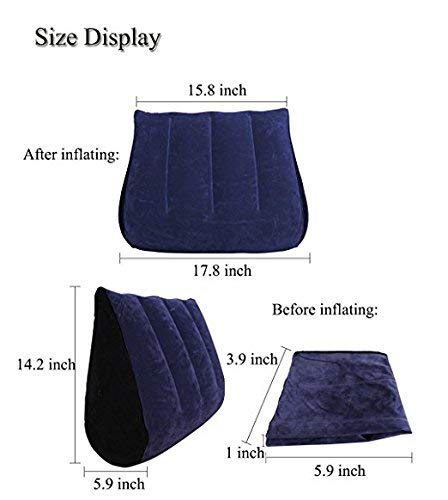 Six-girl Inflatable Multi-functional Bed Pillow Ramp/Backrest Portable Triangle Pillow For Couples