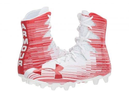 Under Armour(アンダーアーマー) メンズ 男性用 シューズ 靴 スニーカー 運動靴 UA Highlight MC - White/Red [並行輸入品] B07BKW177T