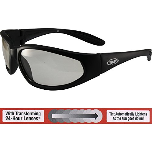 Global Vision Hercules Safety Sunglasses Black Frames with 24 Hour Photochromic Clear to Smoke Lenses ANSI - Glasses Global Vision Safety