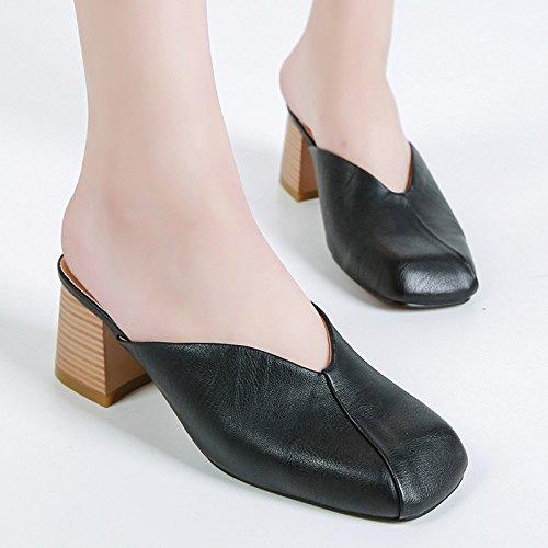 KHSKX-Une Chaussure Avec Des Femmes La Nouvelle Female Fashion Baotou Correspond À Des Chaussures Pour Femmes Thirty-seven kEjSDQE
